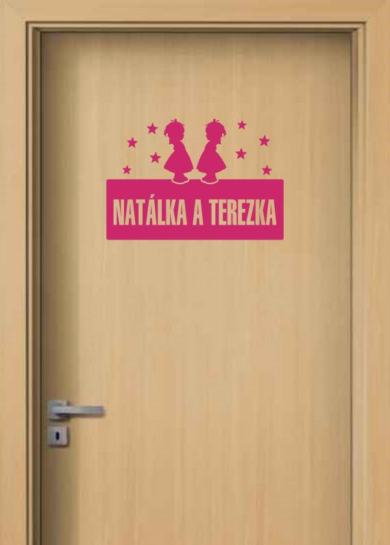 Samolepka na dveře - Cedulka se jménem