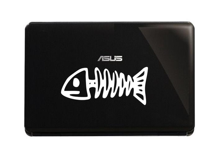Samolepka na notebook Kostra ryby