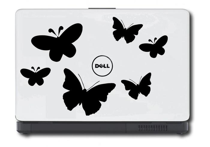 Samolepka na notebook Motýlci
