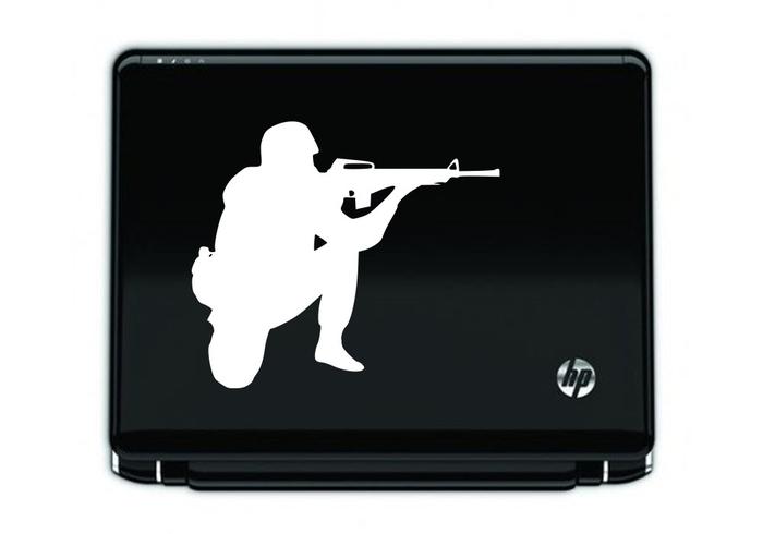 Samolepka na notebook Voják