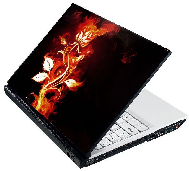 Samolepka na notebook Hořící růže