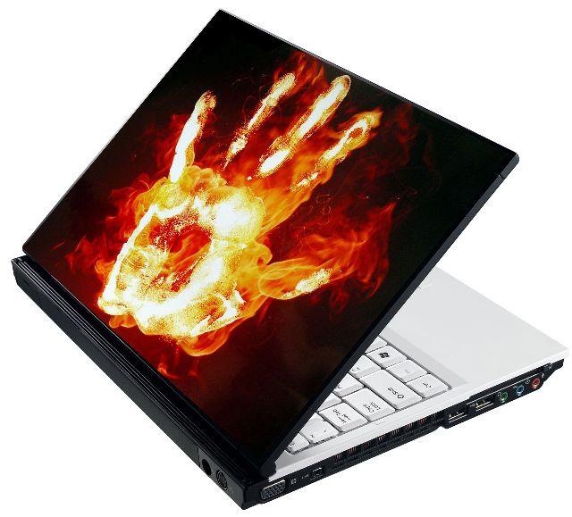 Samolepka na notebook Hořící ruka