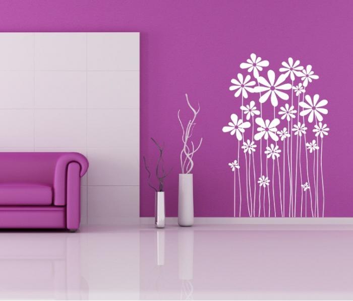 Samolepka na zeď Pnoucí květiny
