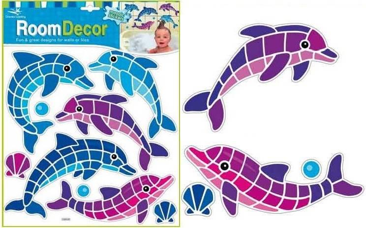 Samolepka Room Decor Delfíni mozaika 31x30cm