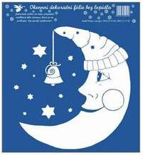 Okenní fólie Měsíc s čepicí bílá 23x20 cm