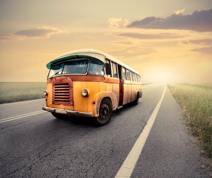 Plakát - Retro autobus