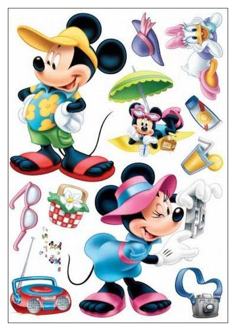 Samolepka mickey mouse na dovolené 50 x 70 cm