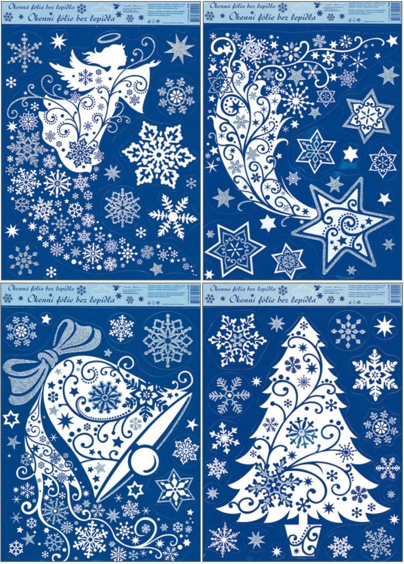 Okenní fólie Zvon, Kometa, Anděl, Stromek set