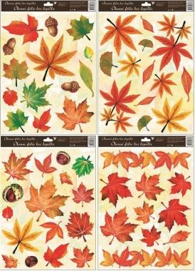 Okenní fólie Podzimní listí set
