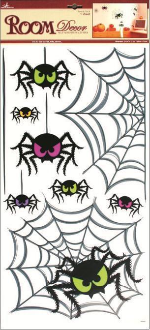 Samolepka Room Decor pavouci, 69x32cm